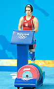 MARIETA GOTFRYD (POLAND) COMPETES IN THE WOMEN'S 58KG WEIGHTLIFTING COMPETITION DURING THE BEIJING 2008 SUMMMER OLYMPIC GAMES IN BEIJING, CHINA.. .CHINA , BEIJING , AUGUST 11, 2008..( PHOTO BY ADAM NURKIEWICZ / MEDIASPORT )..PICTURE ALSO AVAIBLE IN RAW OR TIFF FORMAT ON SPECIAL REQUEST.