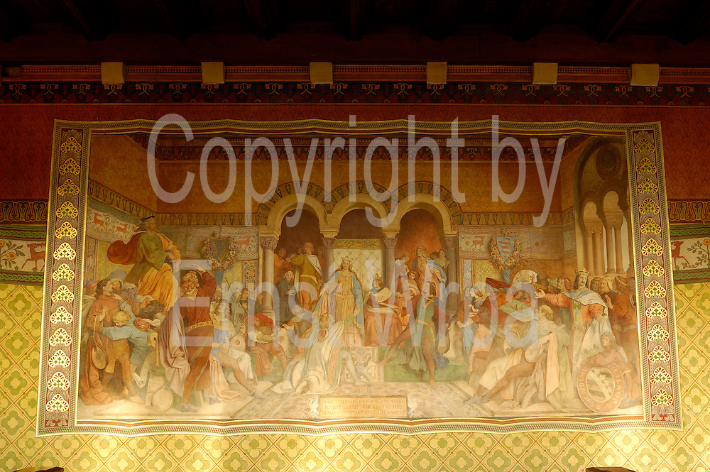 UNESCO-Welterbestätte Wartburg ..Sängersaal Wandgemälde