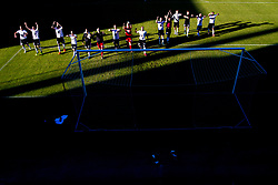 July 1, 2018 - Sandefjord, NORWAY - 180701 Jonathan Levi, goalkeeper AndrŽ Hansen, Alexander SÂ¿derlund and the players of Rosenborg celebrate after the Eliteserien match between Sandefjord and Rosenborg on July 1, 2018 in Sandefjord..Photo: Vegard Wivestad GrÂ¿tt / BILDBYRN / kod VG / 170188 (Credit Image: © Vegard Wivestad Gr¯Tt/Bildbyran via ZUMA Press)