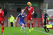 Matt Harrold of Crawley Town controls the ball during the Sky Bet League 2 match between Crawley Town and Stevenage at the Checkatrade.com Stadium, Crawley, England on 26 December 2015. Photo by Phil Duncan.