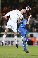 Photo: Pete Lorence/Sportsbeat Images.<br />Peterborough United v Milton Keynes Dons. Coca Cola League 2. 15/12/2007.<br />Aaron Wilbraham clears the ball.