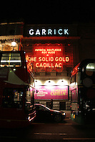 garrick theatre showing solid gold cadillac in london