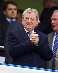 LONDON, ENGLAND - Sunday, May 3, 2015: England manager Roy Hodgson during the Premier League match between Chelsea and Crystal Palace at Stamford Bridge. (Pic by David Rawcliffe/Propaganda)