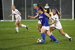 04 November 2016: Katie Wells(5)  during an NCAA Missouri Valley Conference (MVC) Championship series women's semi-final soccer game between the Indiana State Sycamores and the Illinois State Redbirds on Adelaide Street Field in Normal IL