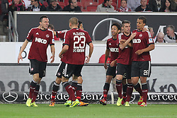 25.10.2013, Mercedes Benz Arena, Stuttgart, GEr, 1. FBL, VfB Stuttgart vs 1.FC Nuernberg, Fussball, 1.Bundesliga, 25.10.2013, 10. Runde, im Bild Jubel,Freude, Emotion nach dem 1:1 von Links Josip Drmic ( 1 FC Nuernberg ) // during the German Bundesliga 10th round match between VfB Stuttgart and 1. FC Nuernberg at the Mercedes Benz Arena in Stuttgart, Germany on 2013/10/26. EXPA Pictures © 2013, PhotoCredit: EXPA/ Eibner-Pressefoto/ Langer<br /> <br /> *****ATTENTION - OUT of GER*****