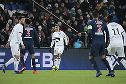 January 27, 2019 - Paris, Ile de France, France - Hatem BEN ARFA (Stade Rennais Football Club), Marcos Aoas Correa, Marquinhos (PSG), Clement GRENIER (Stade Rennais Football Club), Thiago Silva (PSG), Mbaye NIANG  (Credit Image: © Panoramic via ZUMA Press)