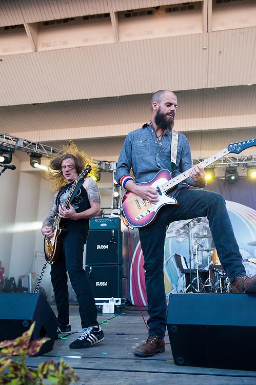 Peter Adams and John Baizley of Baroness at Lollapalooza