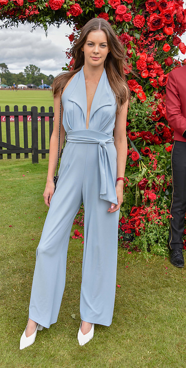 Sophia Goslitski at the Cartier Queen's Cup Polo 2019 held at Guards Polo Club, Windsor, Berkshire. UK 16 June 2019. <br /> <br /> Photo by Dominic O'Neill/Desmond O'Neill Features Ltd.  +44(0)7092 235465  www.donfeatures.com