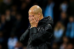 Manchester City manager Pep Guardiola cuts a frustrated figure - Mandatory by-line: Robbie Stephenson/JMP - 26/11/2019 - FOOTBALL - Etihad Stadium - Manchester, England - Manchester City v Shakhtar Donetsk - UEFA Champions League Group Stage