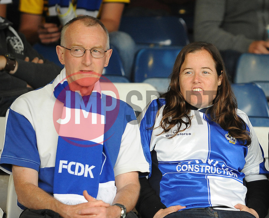 Bristol Rovers fans - Mandatory byline: Neil Brookman/JMP - 07966386802 - 18/08/2015 - FOOTBALL - Kenilworth Road -Luton,England - Luton Town v Bristol Rovers - Sky Bet League Two