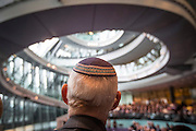 UNITED KINGDOM, London: 26 January 2016 A guest sits in The Chamber of City Hall during a memorial service to remember victims of the Holocaust this morning. The Mayor of London, Boris Johnson, joined members of the London Assembly as well as Holocaust survivors to mark 71 years since the liberation of Auschwitz-Birkenau and to pay tribute to victims of other subsequent genocides. Rick Findler / Story Picture Agency
