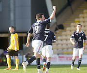 Dundee's Carl Finnigan celebrates his goal - Livingston v Dundee, IRN BRU Scottish Football League, First Division - ..© David Young - .5 Foundry Place - .Monifieth - .Angus - .DD5 4BB - .Tel: 07765 252616 - .email: davidyoungphoto@gmail.com.web: www.davidyoungphoto.co.uk
