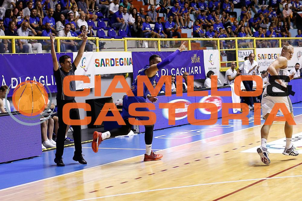 Pietro Aradori<br /> Italia - Finlandia<br /> Nazionale Italiana Maschile<br /> Torneo Sardegna a Canestro 2017<br /> Cagliari 11/08/2017<br /> Foto Ciamillo-Castoria