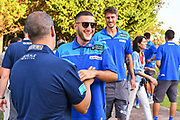 Marco Spissu<br /> Presentazione Banco di Sardegna Dinamo Sassari alle Autorità e Sponsor<br /> Alghero, Tenute Sella e Mosca, 05/09/2018<br /> Foto L.Canu / Ciamillo-Castoria