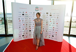 LIVERPOOL, ENGLAND - Thursday, May 12, 2016: Liverpool TV presenter Claire Rourke arrives on the red carpet for the Liverpool FC Players' Awards Dinner 2016 at the Liverpool Arena. (Pic by David Rawcliffe/Propaganda)