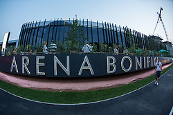 View on the arena before friendly match between National teams of Slovenia and Montenegro for Eurobasket 2013 on August 23, 2013 in Arena Bonifika, Koper, Slovenia. (Photo by Matic Klansek Velej / Sportida.com)