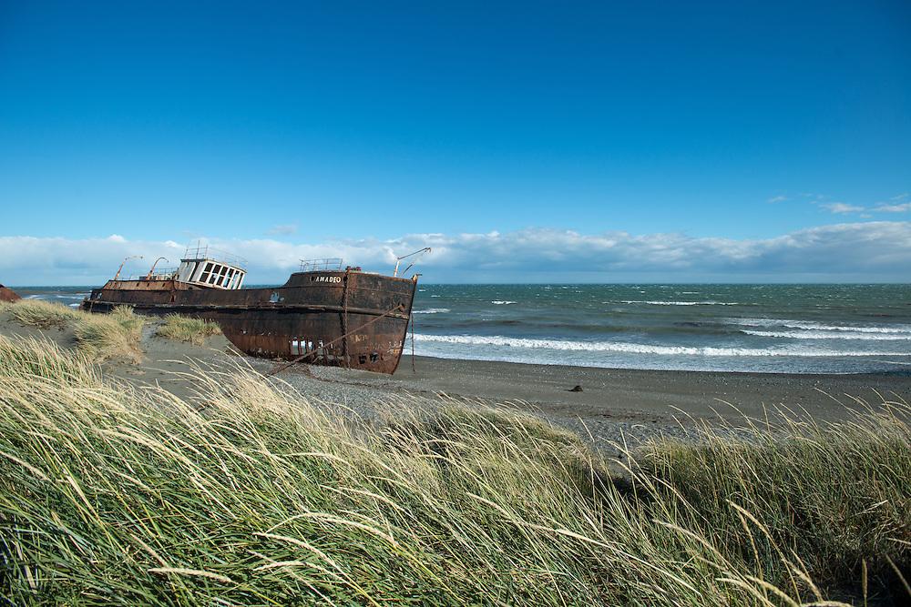 Shipwreck, Straights of Magellan, San Gregorio Chile