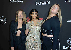 Celebrities attend the Sports Illustrated Saturday Night Lights SuperBowl Party on February 2, 2019 in Atlanta, Georgia. 02 Feb 2019 Pictured: Jasmine Sanders, Danielle Herrington and Hunter McGrady. Photo credit: imageSPACE/MEGA TheMegaAgency.com +1 888 505 6342