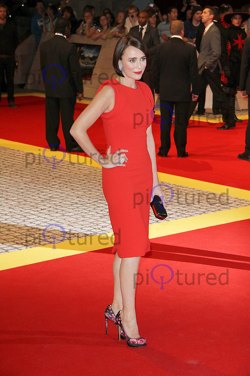 Keeley Hawes The Three Musketeers World Premiere, Westfield, London, UK. 04 October 2011. Contact: Rich@Piqtured.com +44(0)7941 079620 (Picture by Richard Goldschmidt)