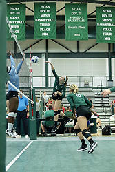 23 September 2017:  Maisy Bowden during an NCAA womens division 3 Volleyball match between the Tufts Jumbos and the Illinois Wesleyan Titans in Shirk Center, Bloomington IL