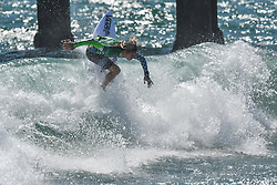 August 1, 2018 - Huntington Beach, California, U.S - KYUSS KING, from South Africa, competes in the second round heat of the Vans US Open held at Huntington Beach, California. (Credit Image: © Amy Sanderson via ZUMA Wire)