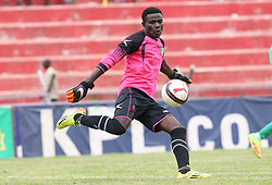 Keeper Vincent Misikhu of Zoo Fc in action against Kariobangi Sharks during their Sportpesa Premier League tie at Nyayo Stadium in Nairobi on July 30, 2017. They drew 1-1. Photo/Fredrick Omondi/www.pic-centre.com(KENYA)