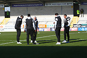 Millwall players arrive at the Pirelli during the EFL Sky Bet Championship match between Burton Albion and Millwall at the Pirelli Stadium, Burton upon Trent, England on 24 February 2018. Picture by John Potts.
