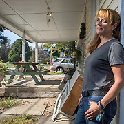 Sharon Strine stands by what used to be a general store in Wolfsville, Maryland, on Tuesday, September 26, 2017. Strine is the plaintiff in a case contesting the redistricting of Maryland's Congressional Districts. Formerly of Maryland's 6th District, Wolfsville is now part of the 8th District. The 6th was redistricted in 2011, combining rural northern Maryland regions with more affluent communities like near Washington D.C. turning the district from Republican to Democrat. <br />  <br /> CREDIT: John Boal for The Wall Street Journal<br /> GERRYMANDER