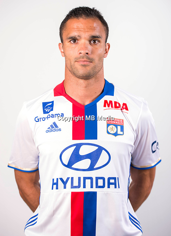 Jeremy Morel during the photocall of Lyon for new season of Ligue 1 on September 22nd 2016 in Lyon<br /> Photo : OL / Icon Sport
