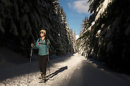 Snowshoeing in Snoqualmie Pass outside of Seattle, Washington
