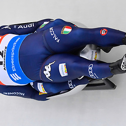 11 January 2020, Saxony, Altenberg: Luge: World Cup, men's doubles, first heat. Emanuel Rieder and Simon Kainzlwaldner from Italy in action in the first run. Photo: Matthias Rietschel/dpa-Zentralbild/dpa <br /> <br /> Photo by Icon Sport - Altenberg (Allemagne)