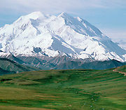 Denali National Park, Alaska, USA<br /> Mt. McKinley and the Alaska Range<br /> From Stoney Dome Lookout.