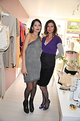 Left to right, YASMIN MILLS and TAMSIN DE ROEMER at a party at De Roemer, 14 Porchester Place, London W2 on 1st May 2013.