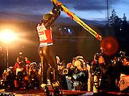 GEPA-1703076054 - OSLO,NORWEGEN,17.MAR.07 - SKI NORDISCH, SKISPRINGEN - FIS Weltcup Skispringen, Grossschanze, Siegerehrung. Bild zeigt den Jubel von Adam Malysz (POL). Foto: GEPA pictures/ Philipp Schalber.FOT. GEPA/ WROFOTO.*** POLAND ONLY !!! ***.NO INTERNET / MOBILE USAGE !!!