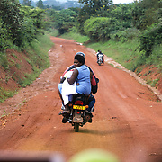 Road Murchison Falls NP-Budongo Central Forest, Uganda, Africa