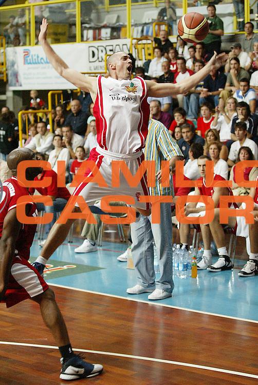 DESCRIZIONE : Busto Arsizio Precampionato Lega A1 2006-07 Trofeo Dream Team Whirlpool Varese Stella Rossa Belgrado<br /> GIOCATORE : Hafnar<br /> SQUADRA : Whirlpool Varese<br /> EVENTO : Precampionato Lega A1 2006-2007 Trofeo Dream Team <br /> GARA : Whirlpool Varese Stella Rossa Belgrado<br /> DATA : 24/09/2006 <br /> CATEGORIA : Curiosita <br /> SPORT : Pallacanestro <br /> AUTORE : Agenzia Ciamillo-Castoria/G.Cottini <br /> Galleria : Lega Basket A1 2006-2007 <br /> Fotonotizia : Busto Arsizio Precampionato Lega A1 2006-07 Trofeo Dream Team Whirlpool Varese Stella Rossa Belgrado<br /> Predefinita :