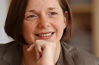 19 JUN 2003, BERLIN/GERMANY:<br /> Katrin Dagmar Goering-Eckardt, B90/Gruene Fraktionsvorsitzende, waehrend einem Interview in ihrem Buero, Jakob-Kaiser-Haus, Deutscher Bundestag<br /> IMAGE: 20030619-01-038<br /> KEYWORDS: Katrin Dagmar Göring-Eckardt