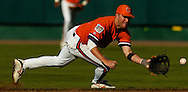 06/18/2006  Clemson's Taylor Harbin runs down a ball at second during game six of the College World Series in Omaha Nebraska Sunday evening..(photo by Chris Machian /Prairie Pixel Group)