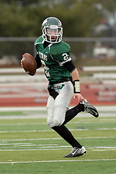 15 November 2014:  Jack Warner during an NCAA division 3 football game between the North Park Vikings and the Illinois Wesleyan Titans in Tucci Stadium on Wilder Field, Bloomington IL