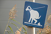 area for dog pooping sign Holland