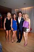 LISA HENREKSON; ANNA MACINERNY MARTINEZ; DAVID GANDY;  NATHALIE BOMGREN, An evening at Sanderson to celebrate 10 years of Sanderson, in aid of Clic Sargent. Sanderson Hotel. 50 Berners St. London. W1. 27 April 2010 *** Local Caption *** -DO NOT ARCHIVE-&copy; Copyright Photograph by Dafydd Jones. 248 Clapham Rd. London SW9 0PZ. Tel 0207 820 0771. www.dafjones.com.<br /> LISA HENREKSON; ANNA MACINERNY MARTINEZ; DAVID GANDY;  NATHALIE BOMGREN, An evening at Sanderson to celebrate 10 years of Sanderson, in aid of Clic Sargent. Sanderson Hotel. 50 Berners St. London. W1. 27 April 2010