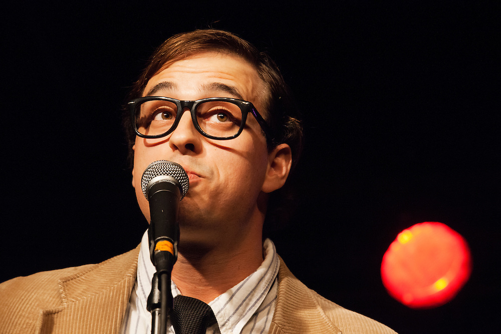 Travis Irvine as Woody Allen - Schtick or Treat 2013 - Littlefield, Brooklyn - October 27, 2013