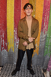Zak Abel at a cocktail supper hosted by BOTTLETOP co-founders Cameron Saul & Oliver Wayman, along with Arizona Muse, Richard Curtis & Livia Firth to launch the #TOGETHERBAND campaign at The Quadrant Arcade on April 24, 2019 in London, England.<br /> <br /> ***For fees please contact us prior to publication***