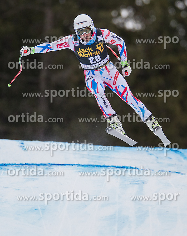 16.12.2015, Saslong, Groeden, ITA, FIS Ski Weltcup, Herren, Abfahrt, 1. Training, im Bild Adrien Theaux (FRA) // Adrien Theaux of France in action 1st downhill practice of the Groeden FIS Ski Alpine World Cup at the Saslong Course in Gardena, Italy on 2015/12/16. EXPA Pictures © 2015, PhotoCredit: EXPA/ Johann Groder