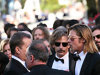 Ben Mendelsohn and Brad Pitt arriving at the Killing Them Softly gala screening at the 65th Cannes Film Festival France. Tuesday 22nd May 2012 in Cannes Film Festival, France.