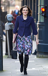 © Licensed to London News Pictures. 23/02/2016. London, UK. Secretary of State for Northern Ireland THERESA VILLIERS arrives at number 10 Downing Street in Westminster, London for cabinet meeting. Photo credit: Ben Cawthra/LNP