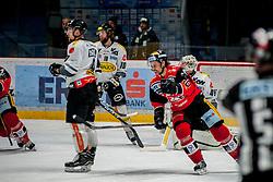 08.01.2017, Ice Rink, Znojmo, CZE, EBEL, HC Orli Znojmo vs Dornbirner Eishockey Club, 41. Runde, im Bild v.l. James Arniel (Dornbirner) Kevin Schmidt (Dornbirner) Jiri Beroun (HC Orli Znojmo) Florian Hardy (Dornbirner) // during the Erste Bank Icehockey League 41th round match between HC Orli Znojmo and Dornbirner Eishockey Club at the Ice Rink in Znojmo, Czech Republic on 2017/01/08. EXPA Pictures © 2017, PhotoCredit: EXPA/ Rostislav Pfeffer