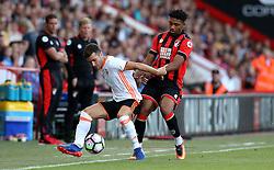 Jordan Ibe of Bournemouth tackles Jose Luis Gaya of Valencia - Mandatory by-line: Robbie Stephenson/JMP - 03/08/2016 - FOOTBALL - Vitality Stadium - Bournemouth, England - AFC Bournemouth v Valencia - Pre-season friendly