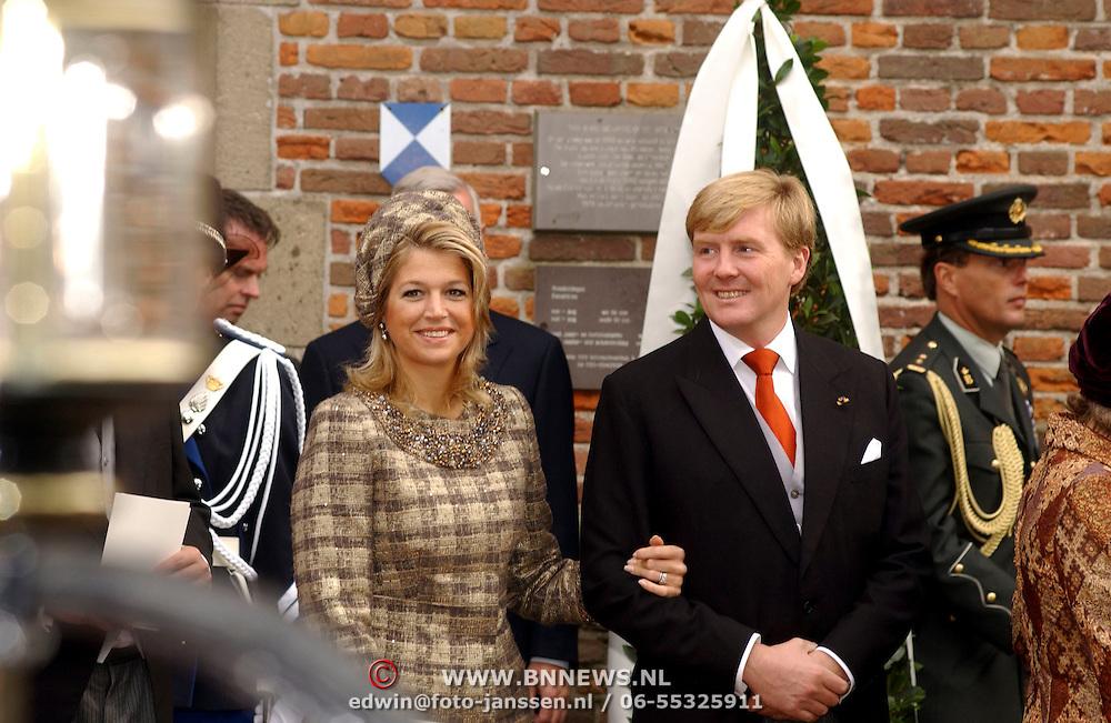 NLD/Naarden/20051022 - Huwelijk prins Floris en Aimee Söhngen, prins Willem Alexander en prinses Maxima