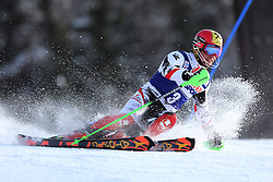 06.01.2014, Stelvio, Bormio, ITA, FIS Weltcup Ski Alpin, Bormio, Slalom, Herren, im Bild Marcel Hirscher // Marcel Hirscher  in action during mens Slalom of the Bormio FIS Ski World Cup at the Stelvio in Bormio, Italy on 2014/01/06. EXPA Pictures © 2014, PhotoCredit: EXPA/ Sammy Minkoff<br /> <br /> *****ATTENTION - OUT of GER*****
